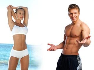 Здоровые тела у мужчины и женщины