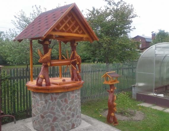 домики для колодцев с тетеревами