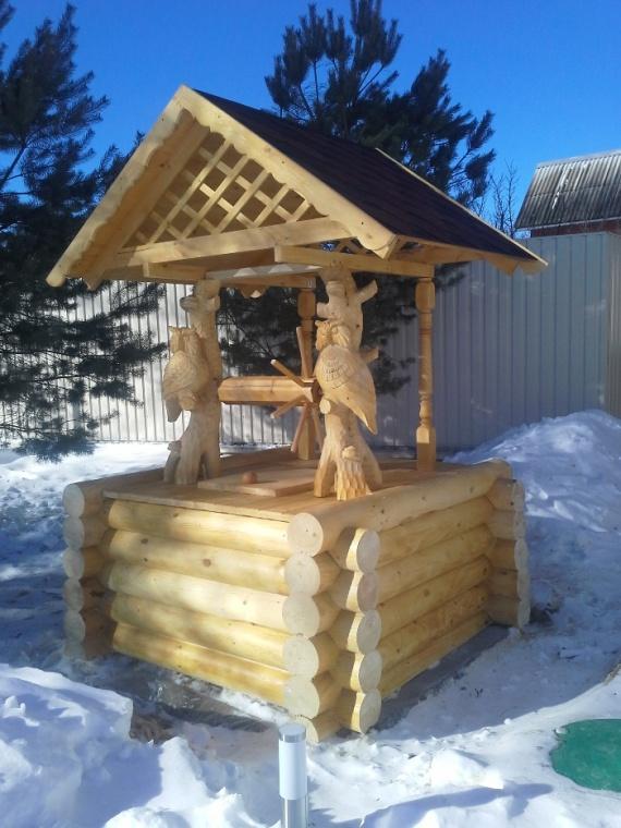 Домик для колодца зимой (ФОТО)