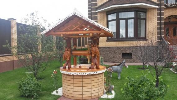 Филины - готовый домик для колодца под заказ