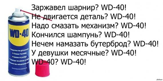 Применение WD-40
